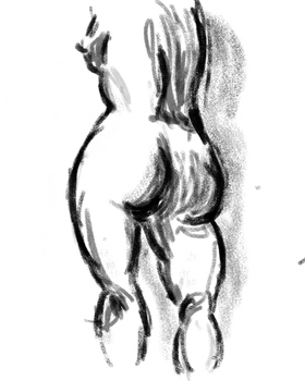 Figure (with graphic tablet) by christelleriou