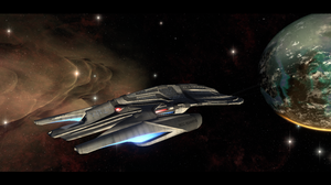USS Dunnottar entering system by DKeith357