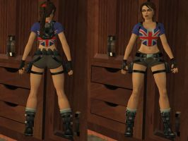 Lara Croft: union jack by TanyaCroft