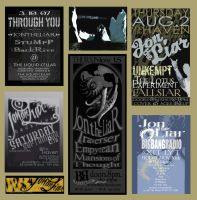 Local Music Fliers by sodeni