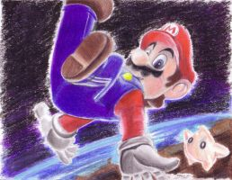 Super Mario Galaxy Lithograph by bluespartan10
