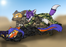 An explosive gift ~ Comission for Ratce8386 by RIOPerla
