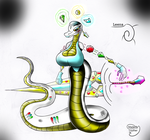 Magical Crystal Sand snake layed back Gurdian by Loyther