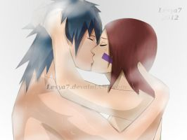 Obito and Rin: Kiss by Lesya7