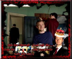 God safe the Queen... uhm Mycroft by Into-Dark