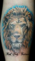 Kurts Lion by Reddogtattoo