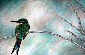 Swallow-Tailed Bee Eater by afiriti