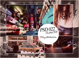 PSD 022 I Love NY by OmgKltzEdition