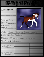 IA Foal Papers-Erotic Exposure X Scarlette Desire by x-XInsomniaX-x