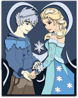 Commission: Jack and Elsa Shadowbox Mockup by The-Paper-Pony