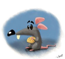 mouse with cheese by KING-SORROW