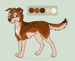 Fursona Ref by Goldylawk