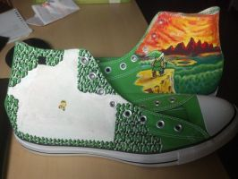 Legend of Zelda Shoes by clmcmillion