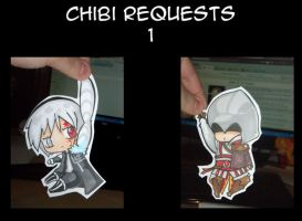 Paper chibis Requests 1 by Sunchildkate