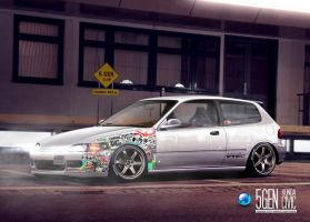 Honda Civic 5gen JDM by CapiDesign