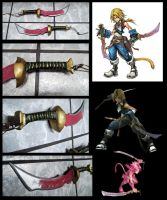 Zidane Dissidia Knives by alsquall