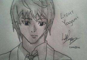 Light Yagami Drawing by LamePie