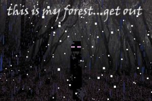 Enderman_Get Out Of My Forest by lazulichaos