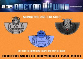 Doctor Who - Monsters by mikedaws