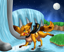 The Moon Shines Bright Tonight by eevee4everX3