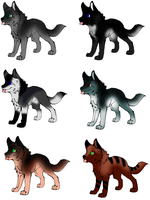 Pup Adoptables by Jamie-Adopts
