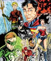 The DCnU Justice League in Color by wheels9696