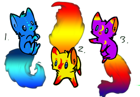 Flame Kitties- ADOPTABLES by L-A-B-R-A-D-O-R