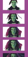 Gamora step by step by LOGARITHMICSPIRAL