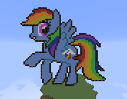 Minecraft Rainbow Dash by BrittanysDesigns