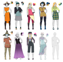 Outfit Adoptables 104 Witches edition by Owl-in-a-box