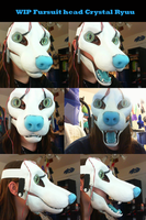 Crystal Ryuu Fur Suit head WIP update by CrystalNori
