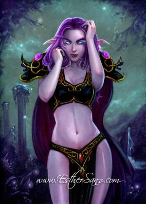 para los que elijan elfos.... HF_Night_Elf_World_of_Warcraft_by_Hispanart