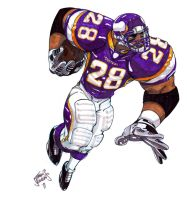 Adrian Peterson by SketcheeBizniz