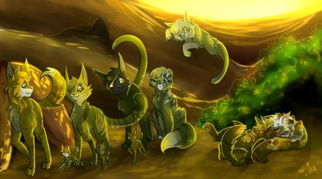 Skyclan Afternoon Redraw by Aryll-nya