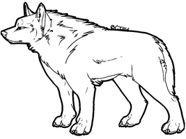 Free woof lineart MSPaint by CIaw