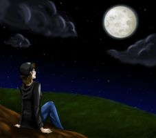 Starry Night Under the Moon by Angel-soma