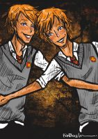 """Weasley Twins"" by KimmyGreenie"