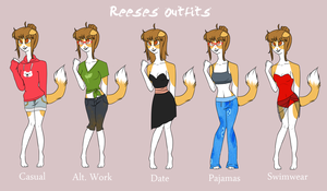 KKT || Reese's Outfits by GhostlyEcho