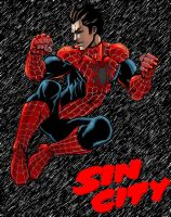 Sin City Peter Parker by DanielBROCK