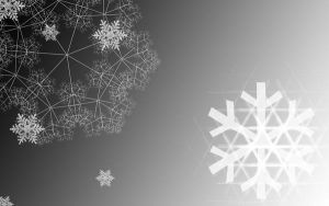 Black and White xmas wallpaper by yakume