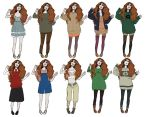 Ginny Weasley Outfits by FruitConflate