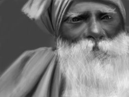 Old indian man by GNAHZ