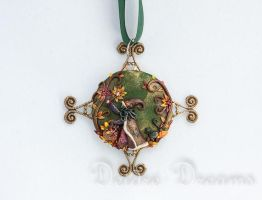 Autumn's a-Brewin' Witch Pendant by DeidreDreams