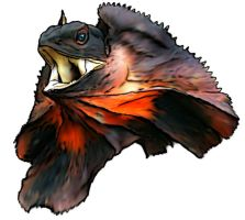 Frilled Lizard by Khimera