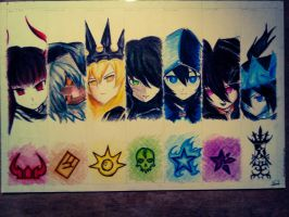 Black Rock Shooter Characters by Uberkill