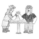 TOG and Nederantansie crossover: Armwrestling by Dwarf-Cartoonist