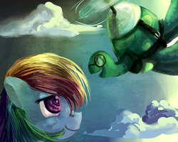 Rainbow Dash and Tank by ForeverSoaring