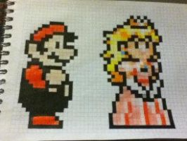 mario y peach :3 by diegoalf