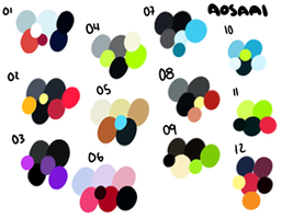 AoSaai Palette Adoptables: by lambomill