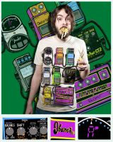Guitar Pedalboard Tee by syntheticsoundscape